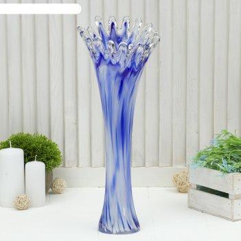 Ваза коралл бело-синяя