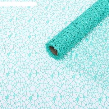 Сетка крошет бирюзовый, 50 см х 4,5 м к22