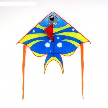 Воздушный змей рыбка с леской, цвета микс