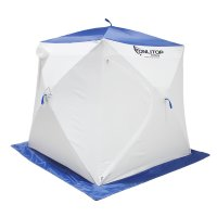 Палатка призма 170 (2-сл) стандарт в95т1, бело-синяя