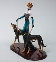 Ga-21 статуэтка дама с собаками