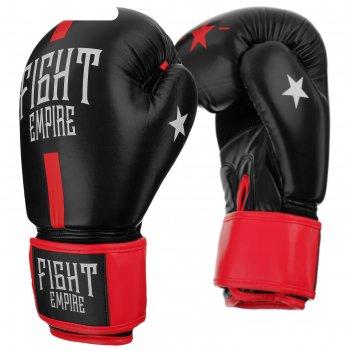 Перчатки боксерские, соревновательные, 10 унций, цвет черно-красный