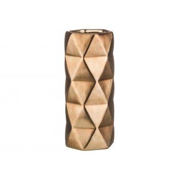 Ваза оригами матированная бронза 12*28 см