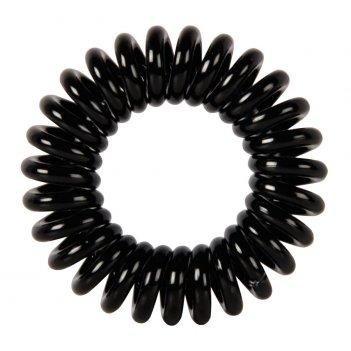 """Резинки для волос dewal beauty """"пружинка"""", цвет черный (3 шт.)"""