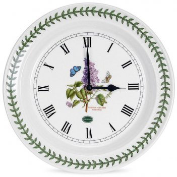 Часы настенные portmeirion ботанический сад. сирень 25см
