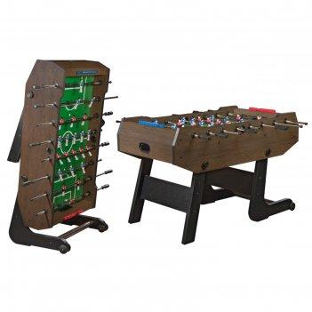 Игровой стол - футбол  складной maccabi (140x75x89, венге)