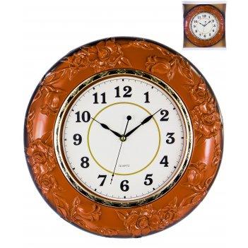 Часы настенные круглые home art «барокко темная роза» 38,8 см
