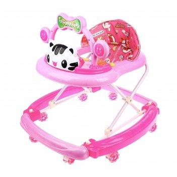 Ходунки-качалка детские «счастливый малыш», силиконовые колёса, музыкальны