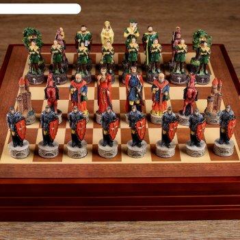 Шахматы сувенирные народный герой (доска 36х36х6 см, король h=8 см, пешка