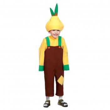 Карнавальный костюм лук чиполлино, текстиль, рост 98-128 см