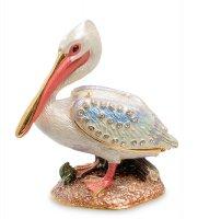Шкатулка пеликан розовый