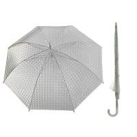Зонт-трость, полуавтомат, r=55см, цвет белый