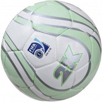 Мяч футбольный 2k sport parity lime fifa inspected, white/silver/green, ра
