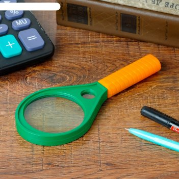 Лупа зеленая с ручкой оранж х5 d=60мм капля 17см
