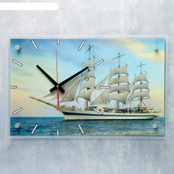 Часы настенные прямоугольные фрегат, 36х60 см