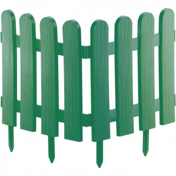 Забор декоративный классика 29 x 224 см, зеленый россия palisad