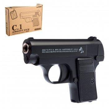 Пистолет пневматический черный ястреб, металлический