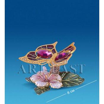 Ar-4351/10ger композиция бабочка на цветке с цв.кр. (юнион)