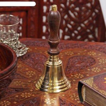 Колокол латунь отражение 16х6,2х6,2 см