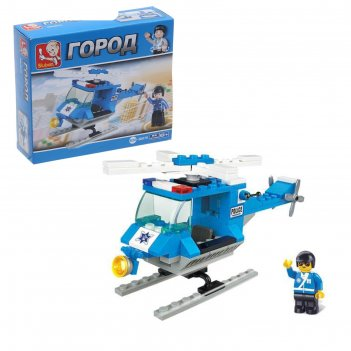 Конструктор «полицейский вертолёт», 85 деталей