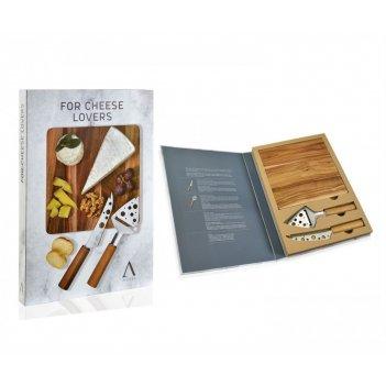 Andrea house подарочный набор из 2 ножей и доски для сыра