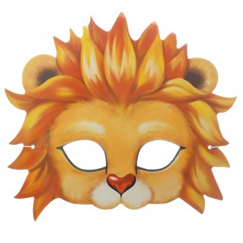 Маска карнавальная львенок