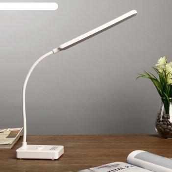 Лампа настольная сенсор ракурс  3 режима led 15вт usb белый 29х9х33см