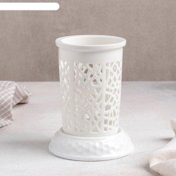 Подставка для столовых приборов эстет. геометрия