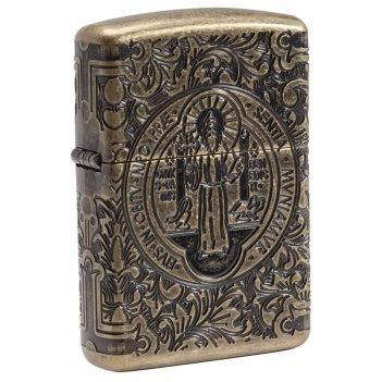 Зажигалка zippo armor® с покрытием antique brass, латунь/сталь, золотистая