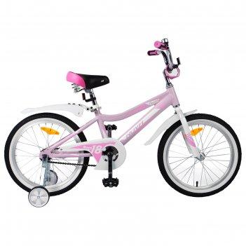 Велосипед 18 novatrack novara, 2019, цвет розовый