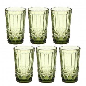 Набор стаканов 350 мл ла-манш, 6 шт, цвет зеленый
