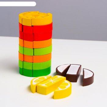 Логический игровой набор  башня фрукты ( 30 дет.)
