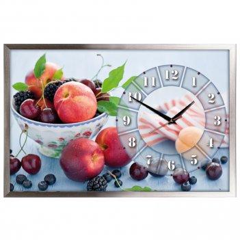 Настенные часы из песка династия 03-159 фрукты