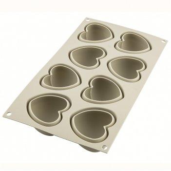 Форма для приготовления пирожных cuoricino 17 х 30 см силиконовая