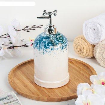 Дозатор для жидкого мыла «бабочка», цвет голубой