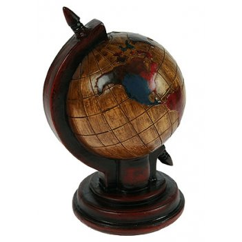 Копилка-ретро глобус 12*11*18см