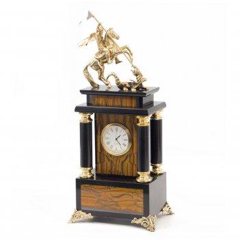 Часы георгий победоносец тигровый глаз бронза