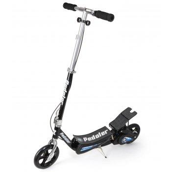 Педальный складной самокат small rider pedaler (самокат-велосипед) (черный