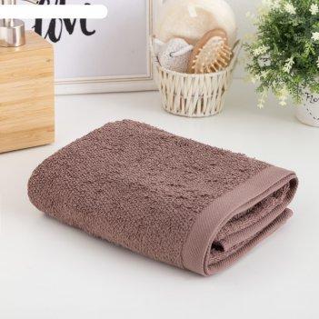 Полотенце махровое этель «терри» 50x90 см, коричневый