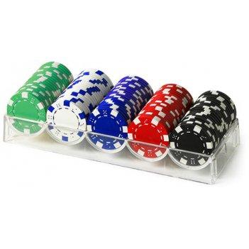 Набор для покера dice на 100 фишек в акриловом трее