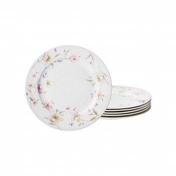 Набор тарелок из 6-ти шт. поцелуй гейши диаметр=20 см (кор=10наб.)