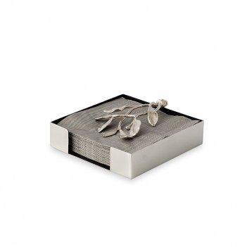 Подставка для салфеток «лавровый лист», размер: 13,3 х 13,3 х 4,4 см, мате