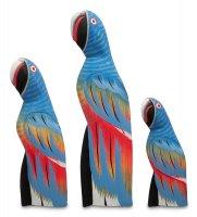 90-086 статуэтка синий попугай набор из трех 30/22/15 см