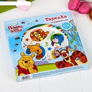 Тарелка поиграем, медвежонок винни и его друзья, 17 см