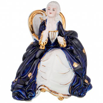 Статуэтка дама высота=15 см. серия blau weiss (кор=24шт.)