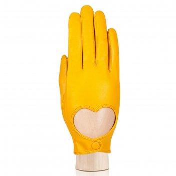 Перчатки женские, размер 7, цвет жёлтый