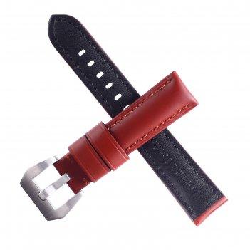 Ремешок для часов bugert 20 мм, натуральная кожа, l=20 см, коричневый, гла