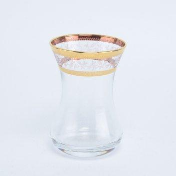 Набор армуд crystalex bohemia золотой лист v-d 120 мл(6 шт)