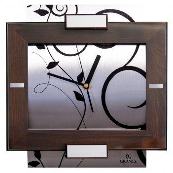 Часы настенные av-03  темный орех  300х270х40 мм