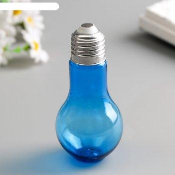 Баночка для скрапбукинга цветная лампочка 140 мл микс 11х5х5 см